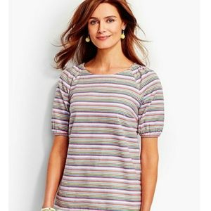 Talbots   Rainbow Striped Tunic Shirt
